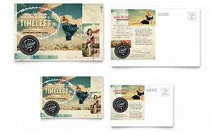 Vintage Clothing Postcard Template - Word & Publisher