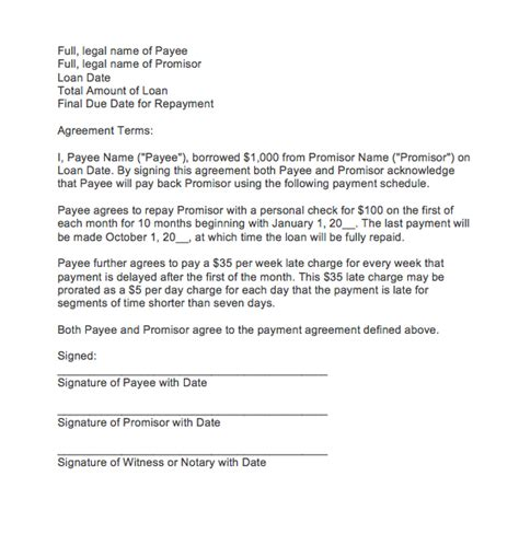 letter  agreement  payment top form templates