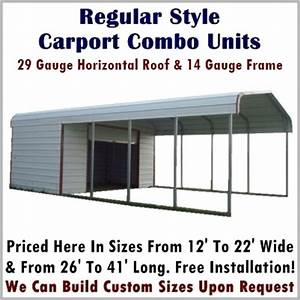 Garage Und Carport Kombination : carport storage combo units metal carport depot ~ Sanjose-hotels-ca.com Haus und Dekorationen