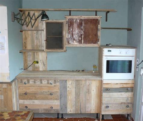 meuble cuisine en palette fabriquer des meubles avec des palettes maison design