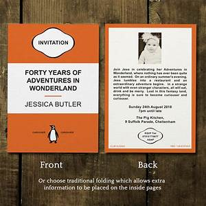 penguin classic birthday party invitations by feel good With penguin classic wedding invitations