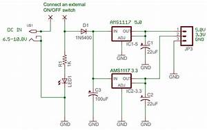 Multi-purpose Dual Power Supply  5 0v And 3 3v  Regulator Board - 4 July 2012
