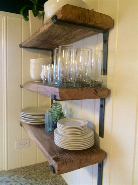 Buy Hand Crafted Reclaimed Shelves With Hand Made Metal