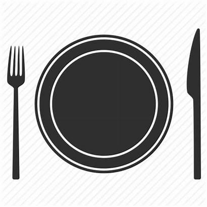 Plate Dinner Icon Restaurant Fork Knife Icons