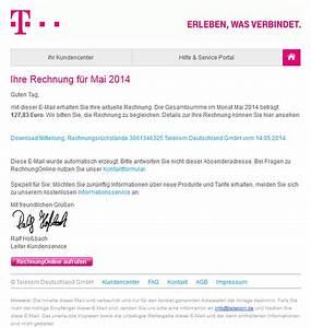 Telekom Deutschland Rechnung : achtung spam in der inbox falsche rechnungen per e mail ~ Themetempest.com Abrechnung