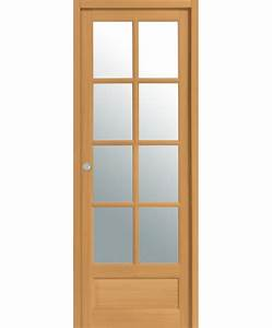 porte coulissante boralde 8 carreaux bois exotique massif With porte de garage coulissante et porte interieur hetre massif
