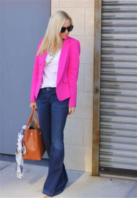 hot pink blazer outfits  women styleoholic