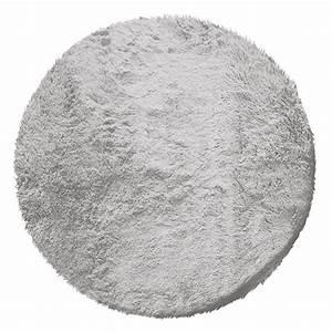 Tapis Fourrure Gris : tapis rond imitation fourrure marmotte gris clair eminza ~ Teatrodelosmanantiales.com Idées de Décoration