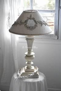 Relooking lampe de chevet Le Grenier d'Alice