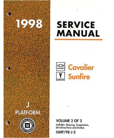 Chevrolet Cavalier Pontiac Sunfire Body Chassis