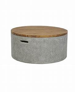 Tables coffee side occasional allissias attic for Concrete drum coffee table
