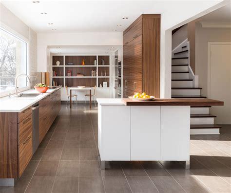 walnut kitchen l cuisine en noyer contemporary kitchen