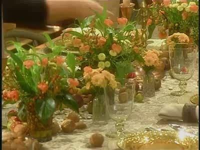 cornucopia table setting  holidays  tos
