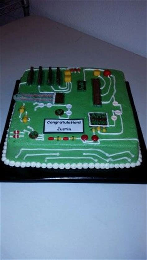 circuit board cakecomputer cake  cakes