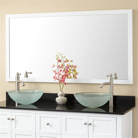 60 Inch Wide Bathroom Mirror by Everett Vanity Mirror White Bathroom Mirrors Bathroom