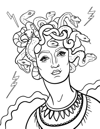 medusa coloring pages printable medusa coloring page free pdf at http