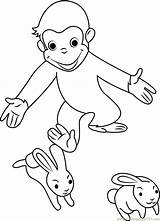 Curious George Coloring Rabbit Playing Pages Cartoon Coloringpages101 Printable Pdf sketch template
