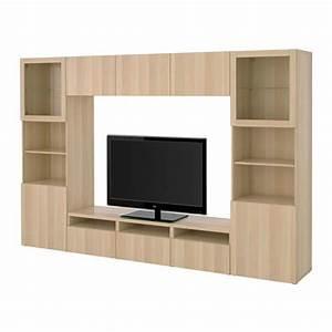 Besta Tv Schrank : best tv schrank kombinierte glast r lappviken sindvik ein gebleichter eiche klar stelka ~ Watch28wear.com Haus und Dekorationen