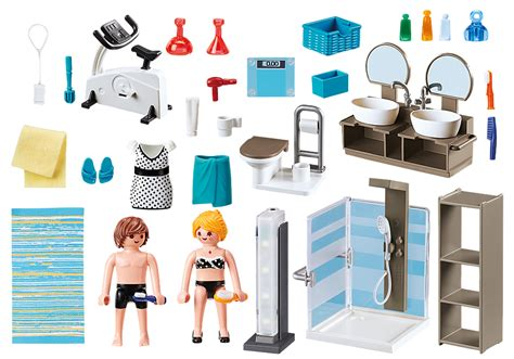 salle de bain avec douche  litalienne  playmobil
