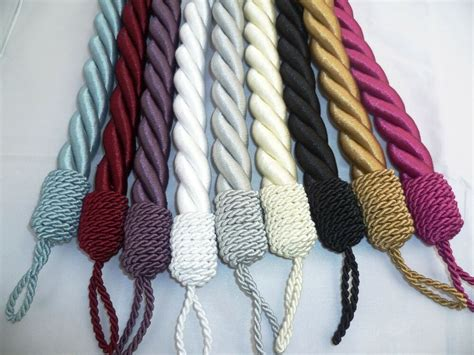 Chunky Rope Curtain Tie Backs Available In 9 Colours Sold