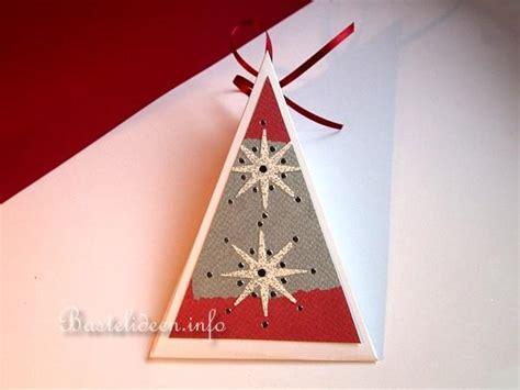 weihnachten basteln papier weihnachten geschenkverpackung dreiecks geschenkschachtel papier
