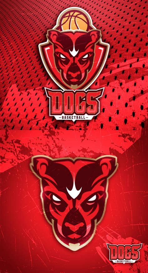 sport logo dogs basketball  behance cool sport logo