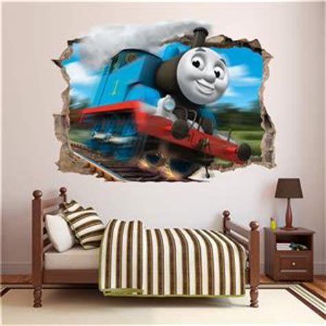 thomas the tank engine smashed wall sticker bedroom kids