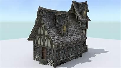 Medieval 3d Town Poly Low Builder Models