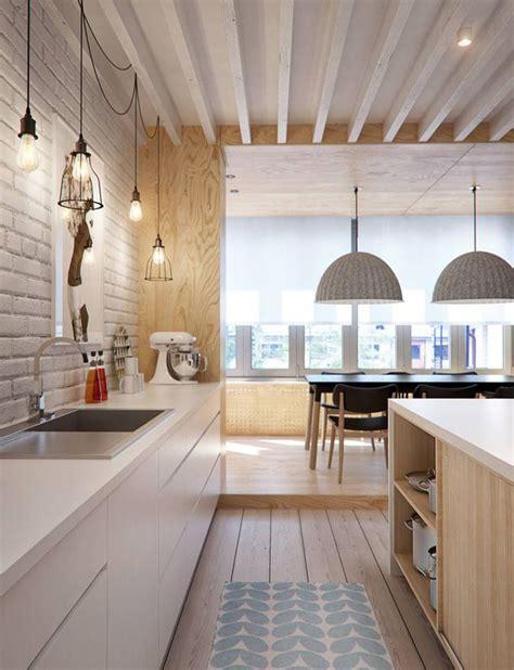 cozy wooden scandinavian kitchens