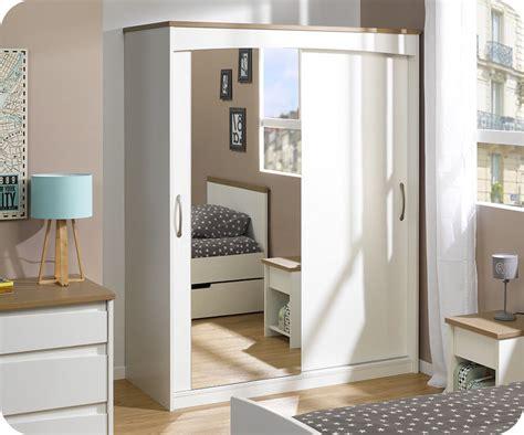 armoire chambre blanche armoire enfant island blanche 2 portes avec miroir