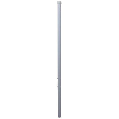 49 in bar height umbrella pole extension in white bp wh49