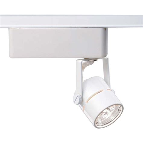 glomar 1 light mr16 12 volt white track lighting