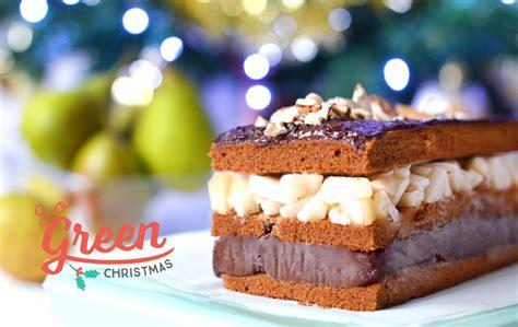 idee dessert noel facile dessert de no 235 l b 251 che fa 231 on millefeuilles poire amande chocolat vegan sans gluten sweet