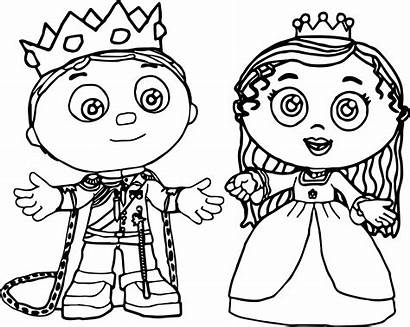 Coloring Pages Super Why Princess Printable Prince