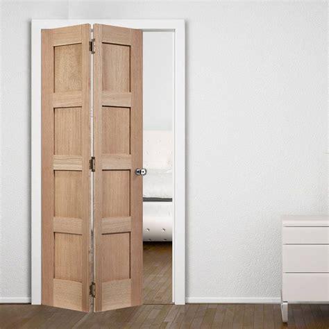 contemporary  panel oak bifold door en  doors