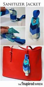 clean crafts diy sanitizer jackets for those on the go