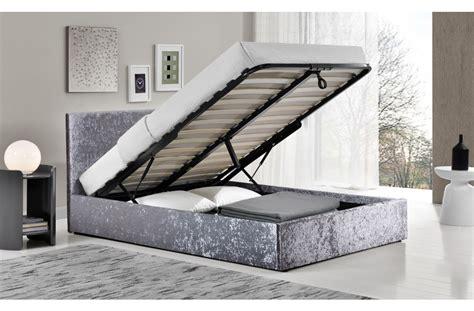 Small Ottoman Bed by Birlea Berlin 4ft Small Fabric Ottoman Bed