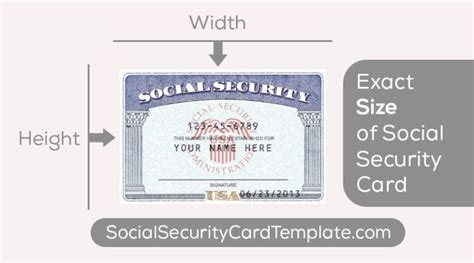 Online application for social security cards is streamlined. What's the Size of a Standard SSN Card USA? | Id card template, Card templates free, Signature cards