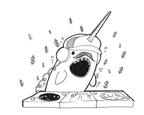 Printable Coloring Pages Narwhal