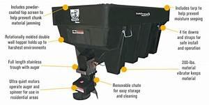 Saltdogg Electric Poly Hopper Spreader  U2014 3  4 Cubic Yard