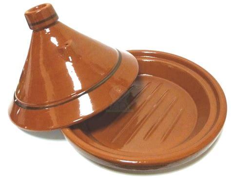 tajine grand marocain de cuisson en terre cuite de couleur