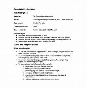 Administrative assistant job description template 9 for Admin assistant job description template