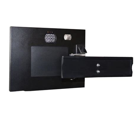 Floor Mounted Fireproof Safe by Buffalo 0 58 Cu Ft Wall Safe With Electronic Lock Black