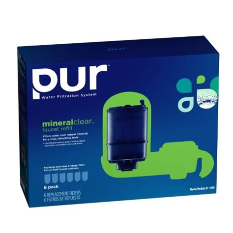 pur 3 stage faucet filter refill pur mineralclear faucet refill rf 9999 6 pack