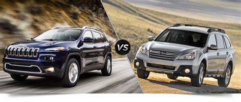 jeep subaru 2014 jeep cherokee vs 2014 subaru outback