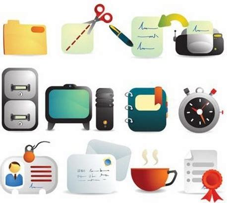 Office Supplies Vector by Office Supplies Vector Icons Free Vector In