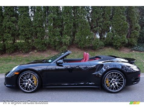 porsche 911 convertible black 2015 porsche 911 turbo s cabriolet in basalt black