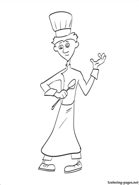chief cook  ratatouille  drawing coloring pages
