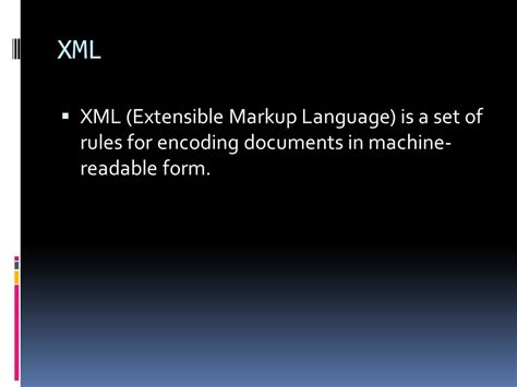 extensible markup language tutorial chapter three software the essence of computers ppt