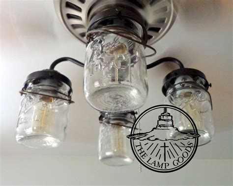 ceiling fan with jar lights mason jar ceiling fan light kit only with vintage pints